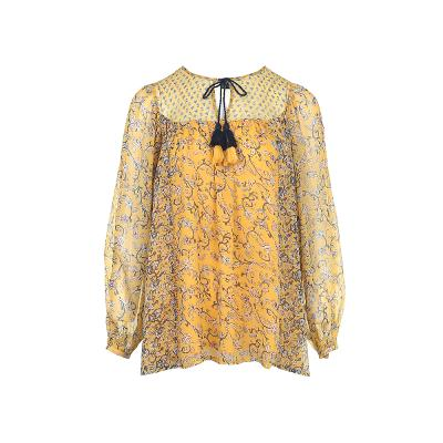 tessel point flower blouse yellow